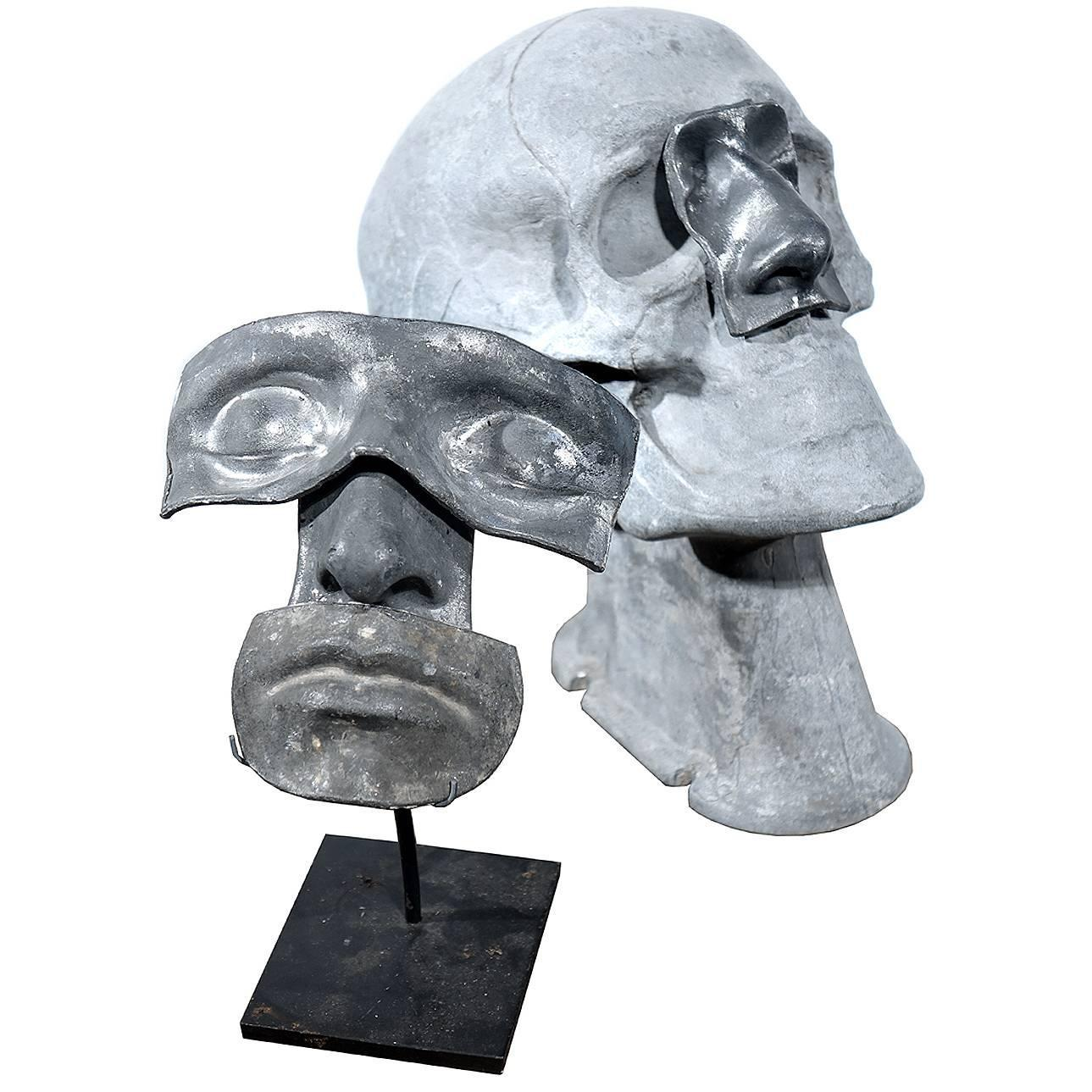 Real Beauchene Skull - Medical school teaching display. at 1stdibs