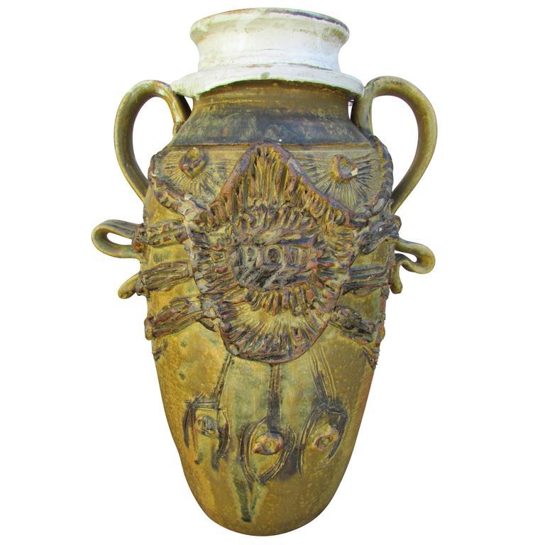 """Midcentury Ceramic """"Pot"""" Vase 1"""