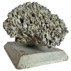 Lead Coral Sculpture