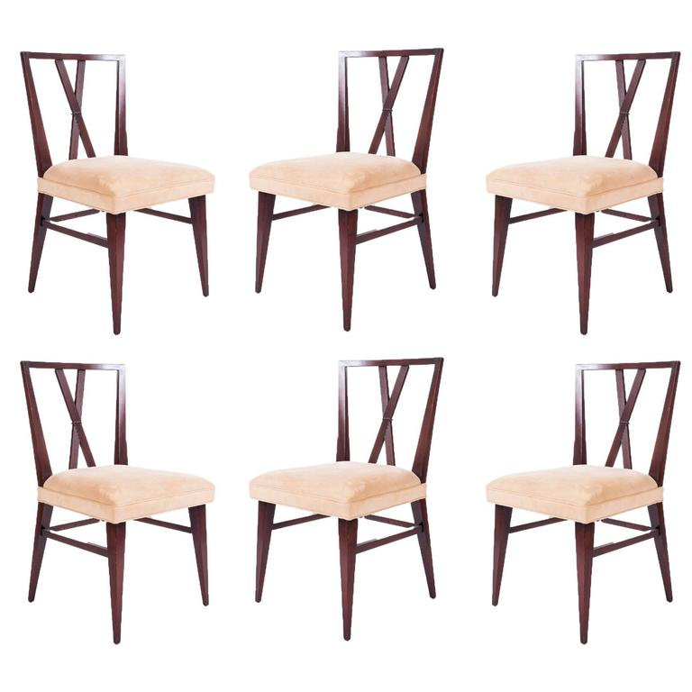 set of six dining chairs by tommi parzinger for charak modern 1 - Set Of Six Dining Room Chairs