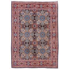 Persian Rug Vintage Kerman Yazd