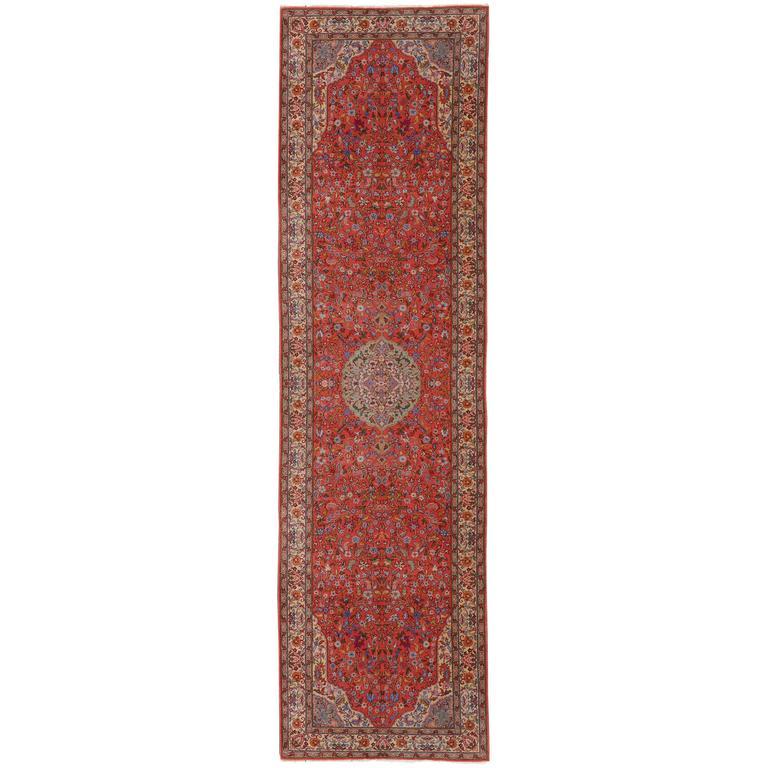 Large European Hand-Knotted Vintage Rug with Tabriz Design