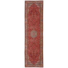 Large European Hand-Knotted Vintage Rug with Tabriz Design
