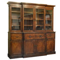 George III Mahogany Secrétaire Bookcase