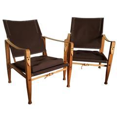 """Pair of """"Safari"""" Armchairs, Kaare Klint"""