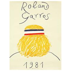 1981 Roland Garros French Open Tennis Poster by Eduardo Arroyo
