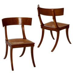 Pair of Danish 19th Century Neo-Antique Klismoi in Oak