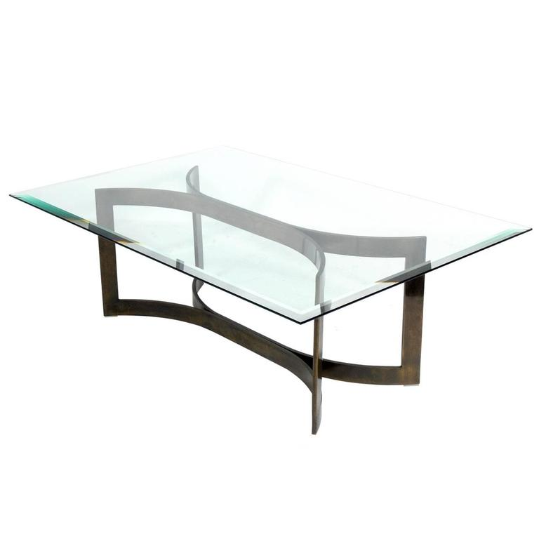 Amazing Mid Century Modern Solid Bronze Coffee Table Base 1