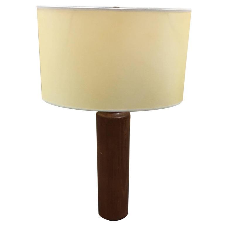 Solid Teak Danish Style Lamp