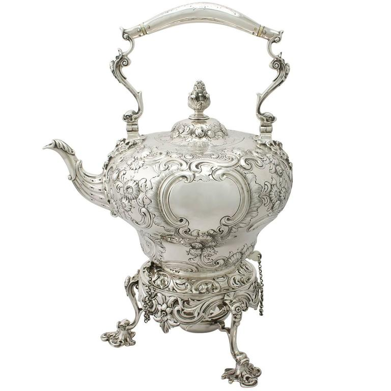 Sterling Silver Spirit Kettle Antique Victorian For Sale At 1stdibs