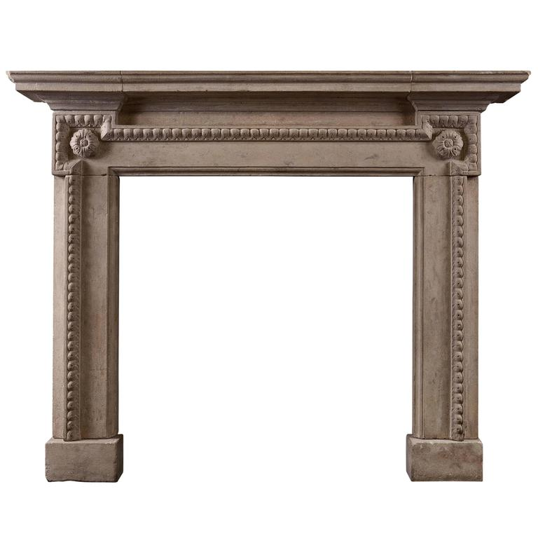 Architectural Bath Stone Fireplace in the Georgian Manner