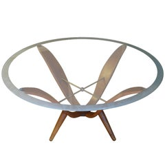Rare Coffee Table in Gio Ponti Style, Italy, 1950s