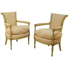 Pair of Directoire Style Elbow Chairs