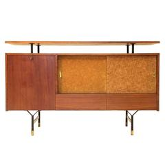 Italian Rosewood Credenza with Floating Top, 1960s