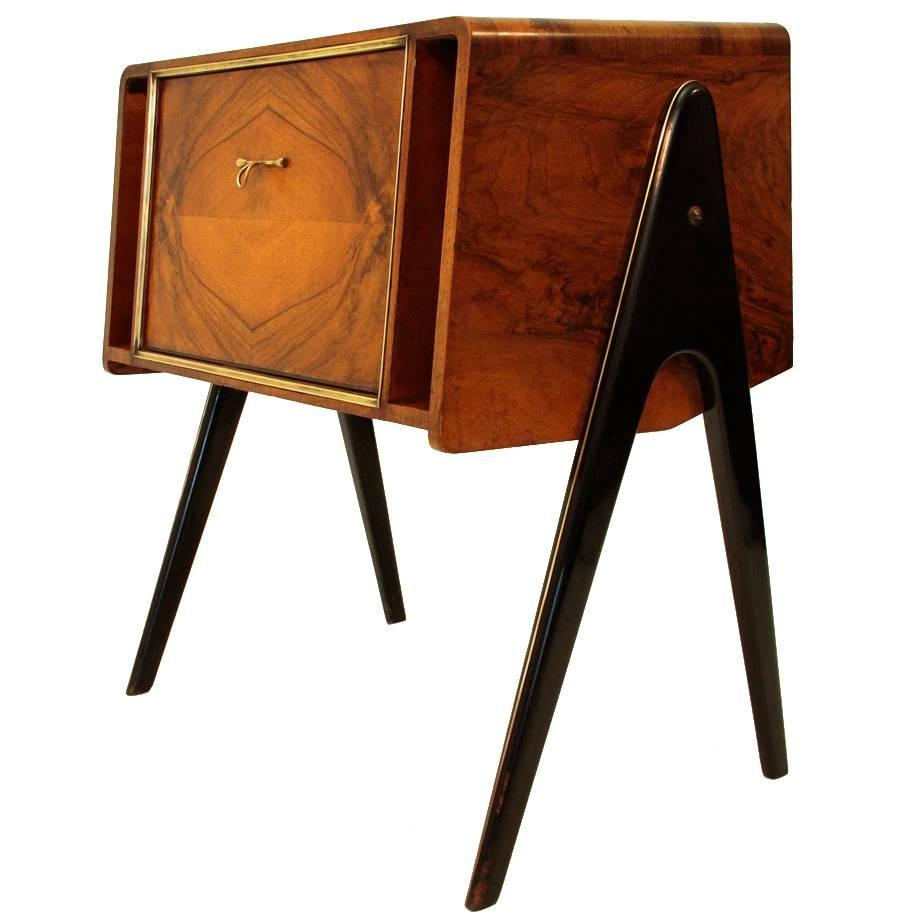 Italian Wood Cabinet With Turntable 1940s At 1stdibs