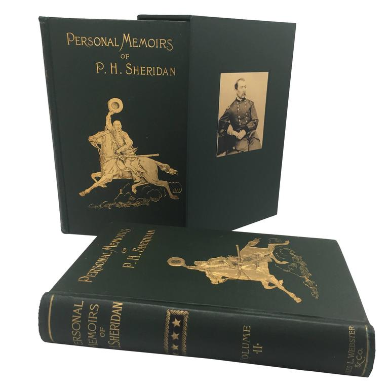 "Philip Sheridan ""Shoulder Strap"" First Edition, Two Volumes, circa 1888"