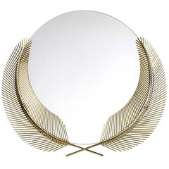 Sunset polished brass mirror designed by Nika Zupanc for Ghidini, 1961