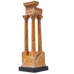Italian Grand Tour Marble Model of the Temple of Vespasian & Titus, circa 1880