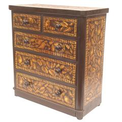 Decoupage English Dresser with Shell Design