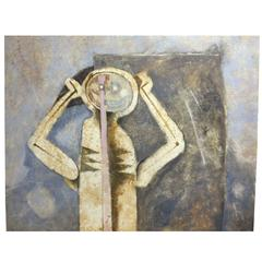 Grand Scale Modern Painting in the Style of Rufino Tamayo