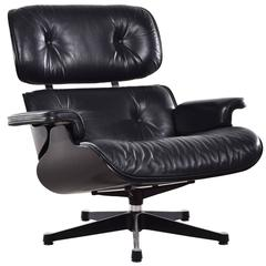 Eames Black Lounge Chair for Vitra