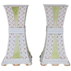 Pair of Glazed Porcelain Pedestals