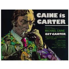 """Get Carter"" Original UK Film Poster, Arnaldo Putzu, 1971"