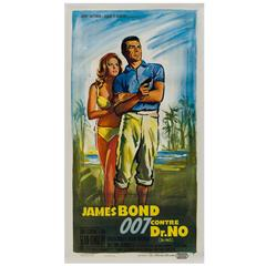 Dr No Original French James Bond Film Poster, Boris Grinsson, 1963