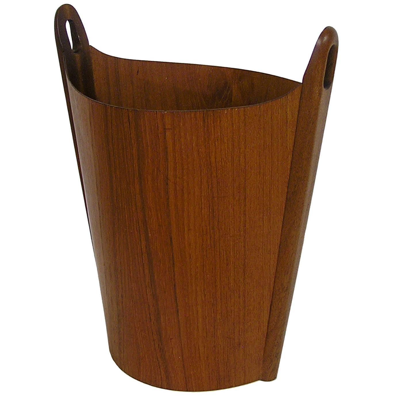 1960s P.S. Heggen Teak Waste Basket by Einar Barnes ...