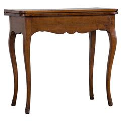 Antique French Walnut Game Table, circa 1770
