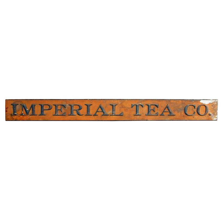Imperial Tea Co. Sign