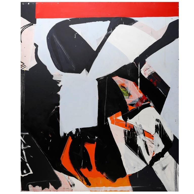 Ezra Cohen Acrylic on Canvas, Red Stripe, USA, 2015 1