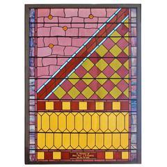 Antique Koontz Memorial Stained Glass Window