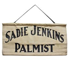 Early 20th Century Hand-Painted Palmist Trade Banner
