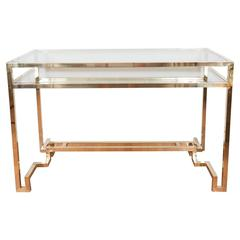 Stylized Brass Desk