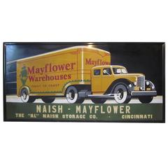 Vintage Art Deco Truck Advertising Sign