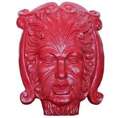 Architectural Cast Iron Ornamental Face
