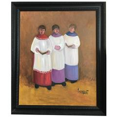 Choirboys Singing in Altar by Luque, Spain