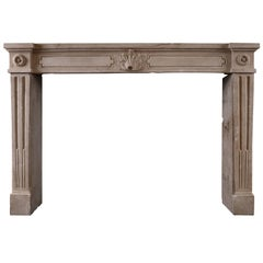 Rustic French Louis XVI Antique Fireplace