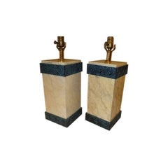 Elegant Maitland-Smith Lacquered Art Deco Style Table Lamps