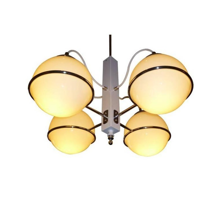 Smart Gino Sarfatti Four Globe Chandelier 1