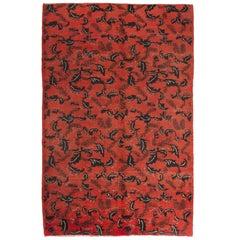 MidCentury Turkish Deco Rug