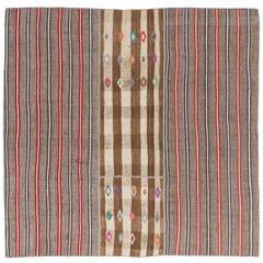 Banded Nomadic Kilim, Flat-Weave Rug