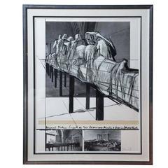 "Christo ""Wrapped Statues"" Silkscreen/Photo-Collage, circa 1988"