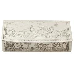 Sterling Silver Snuff Box, Antique George V