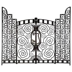 Superb Pair of French Art Deco Gates