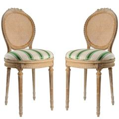 Pair of Louis XVI Style Salon Chairs
