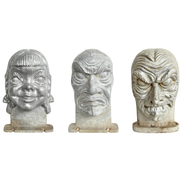 Mid-Century Halloween Mask Molds For Sale