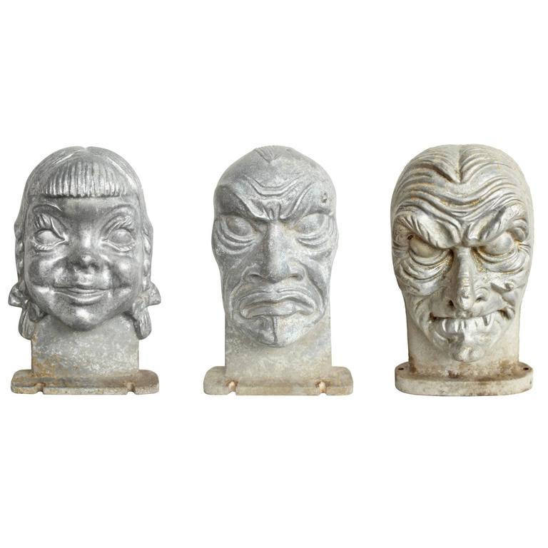 Mid-Century Halloween Mask Molds 1