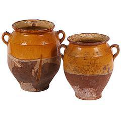 Pair of Antique French Confit Pots